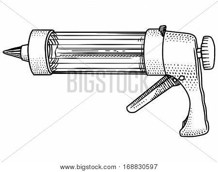 press, decorating, kit, cream, mousse, cake, gun, injector, illustration