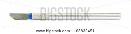 Metal chisel knife isolated over the white background