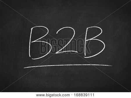 B2B concept word text on blackboard background