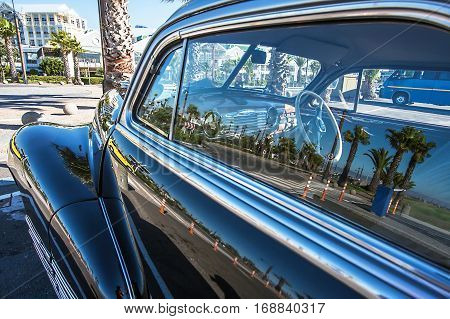 Old car at the waterfront in Cape Town South Africa
