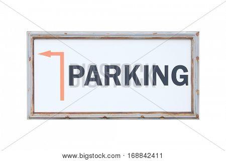 Parking signboard