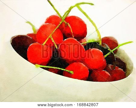 A Nice Bowl of Red Cherries