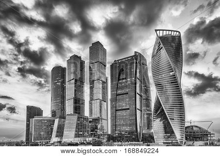 Scenic View Of The Moscow City International Business Center, Russia