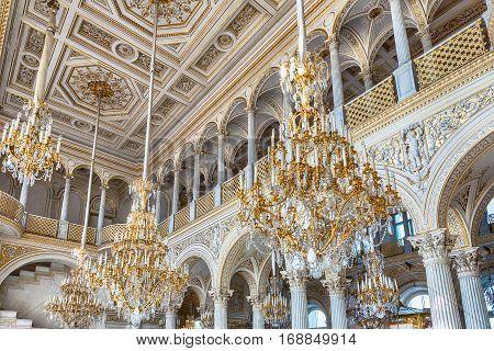 Pavilion Hall, Hermitage Museum, St. Petersburg, Russia