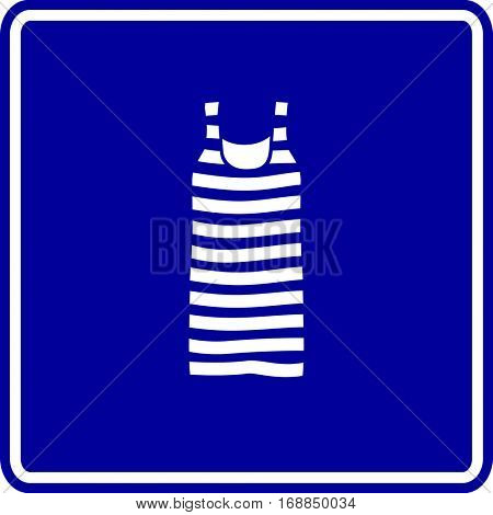 striped tank top sign