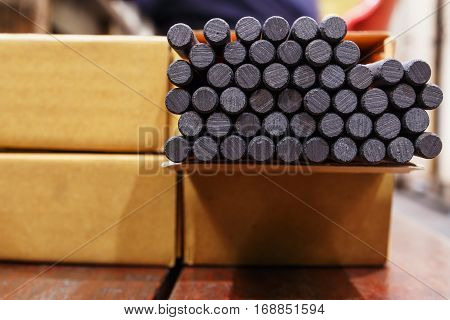 Gouging carbon electrode rodsUsed in industrial metal steel