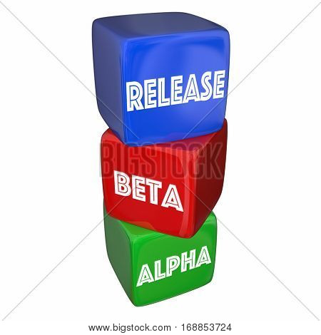 Alpha Beta Release Final Testing Product Ready 3d Illustration