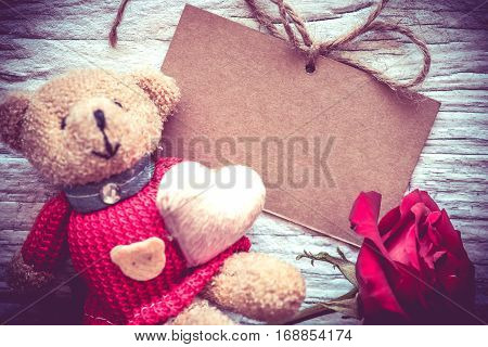 Valentines day and sweetest concept, rose flower