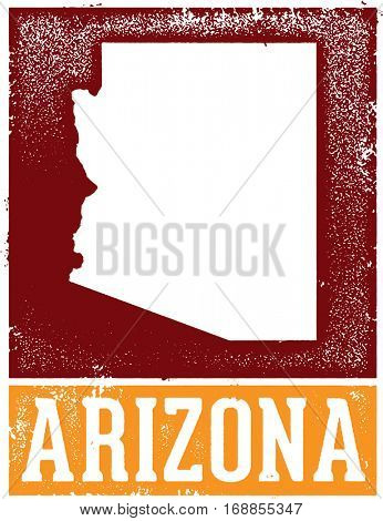Vintage Arizona State Sign