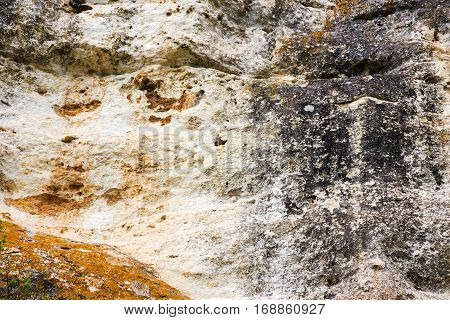 Textured Stone Background. Background Of Rock Stone Surface Of Boulders And Pebbles