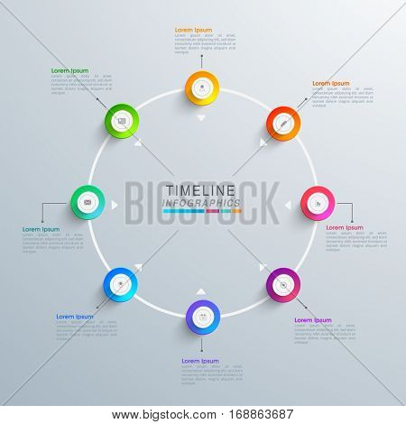 Creative infographic elements with glossy web symbols for your Business.