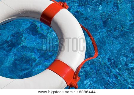 Rescue tires in the pool
