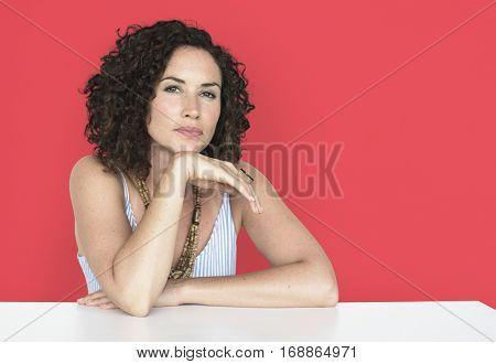Woman Confidence Self Esteem Prop Chin Portrait