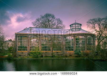Historic Greenhouse Hortus Botanicus Amsterdam Retro Look