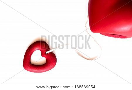 Valentines day love and sweetest concept, isolated on white background