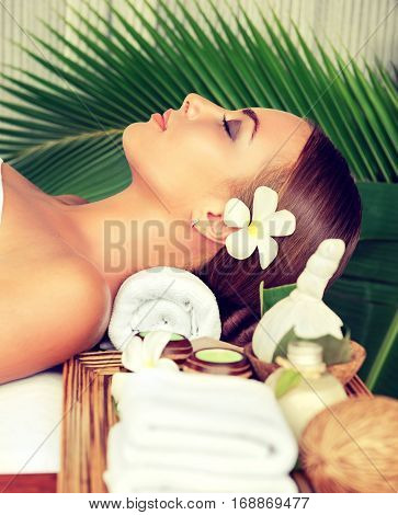 Body care. Spa body massage treatment. Woman having massage in the beauty  salon
