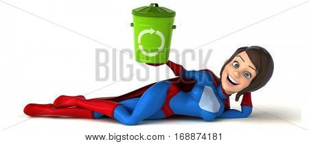 Fun superhero- 3D Illustration