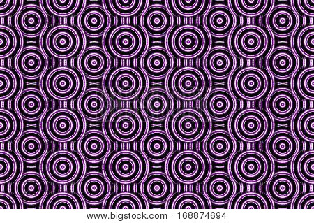 Illustration of several purple and white concentric circles