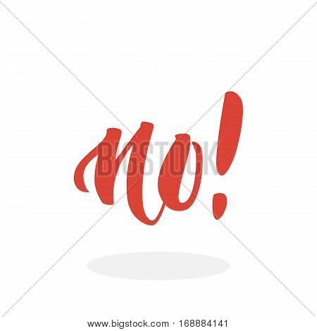 No icon. No hand-lettering calligraphy text. Vector lettering illustration for web, print - stock vector