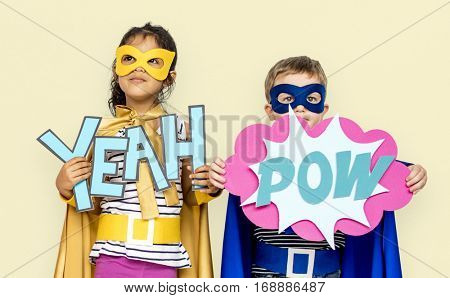 Little Kids Superhero Yeah Pow Paper craft