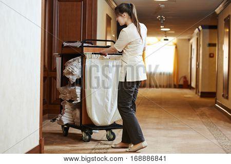 chambermaid at hotel