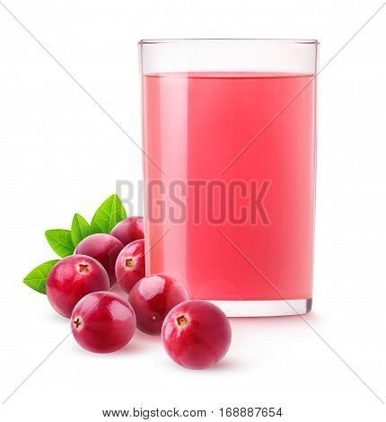 Isolated Cranberry Drink
