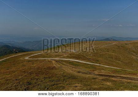 Beklemeto pass road, Balkan mountain area, Bulgaria