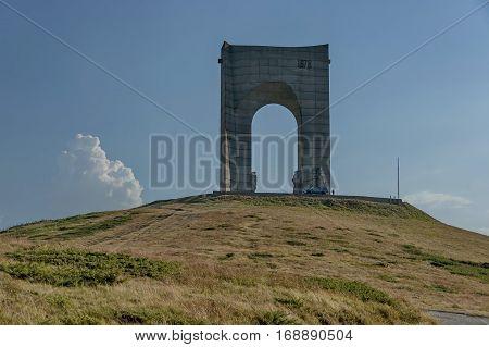 Beklemeto pass road, monument, Balkan mountain, Bulgaria