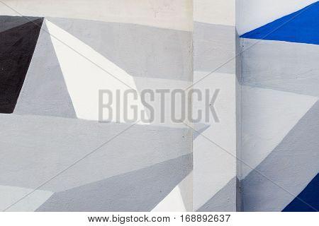 Abstract stylish picture on wall, art graffiti style closeup