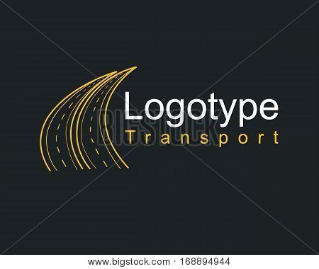 Logotype Transportation, Road, Highway