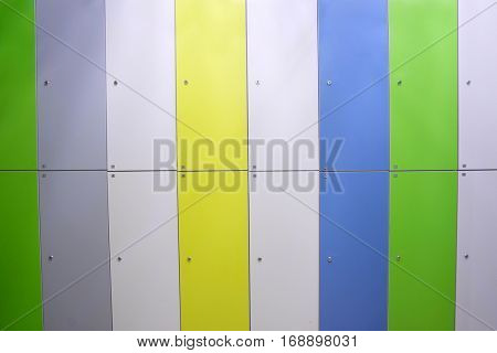 doors in a locker room in fitness club