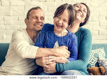 Family Together Cuddling Love Happy poster