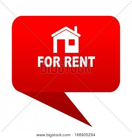 for rent bubble red icon