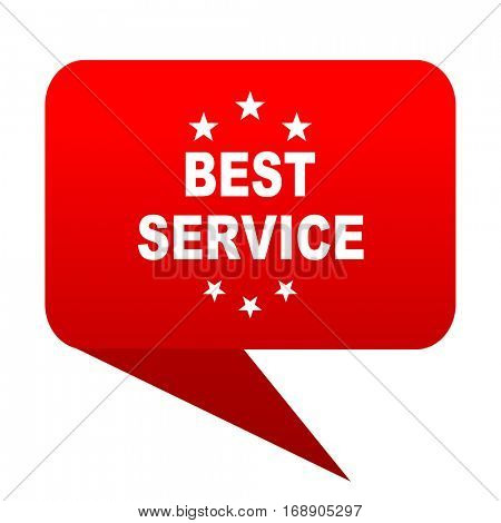 best service bubble red icon
