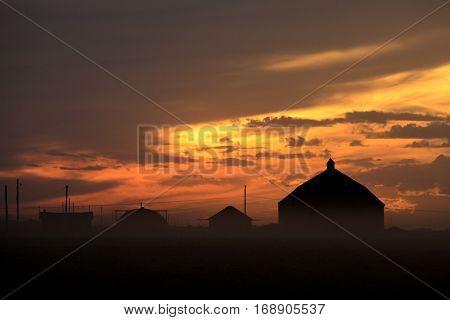 Harvest Sunset Saskatchewan