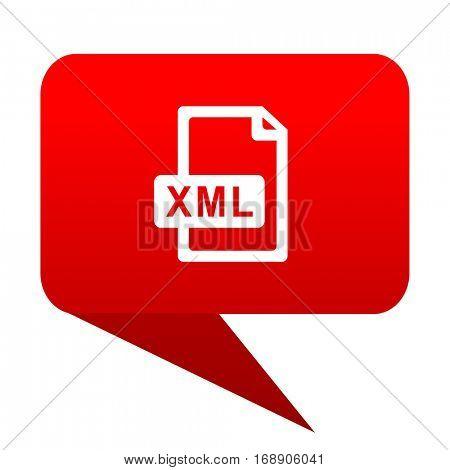 xml file bubble red icon.