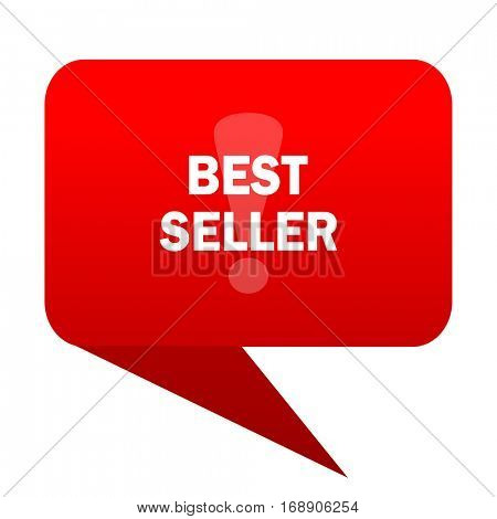 best seller bubble red icon