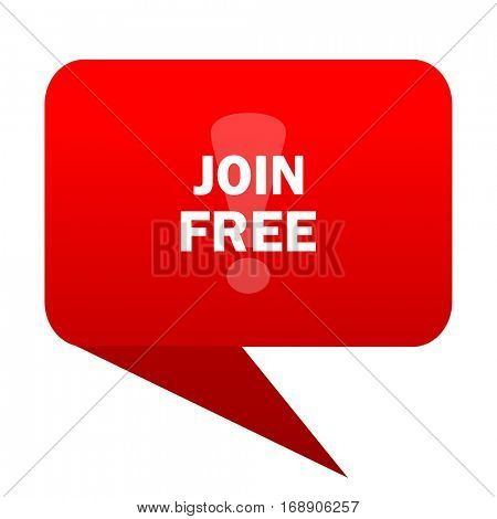 join free bubble red icon