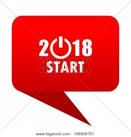ner year 2018 bubble red icon