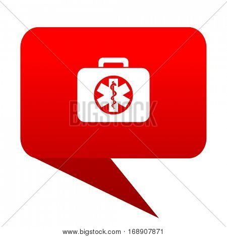rescue kit bubble red icon