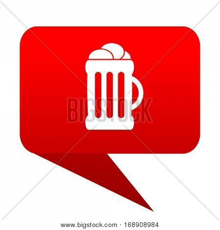 beer bubble red icon