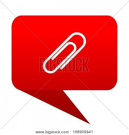paperclip bubble red icon