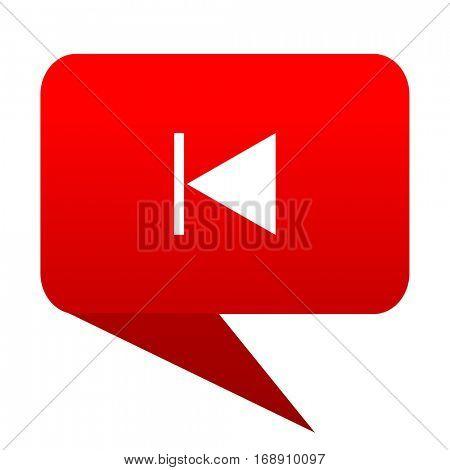 prev bubble red icon