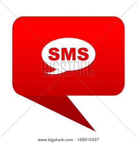 sms bubble red icon