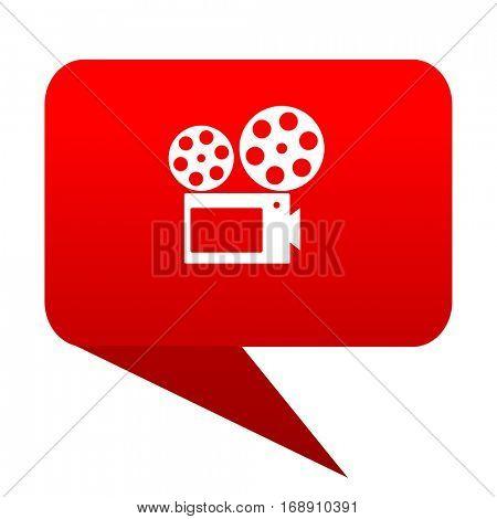 movie bubble red icon