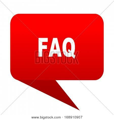 faq bubble red icon