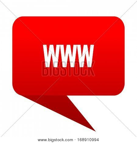 www bubble red icon