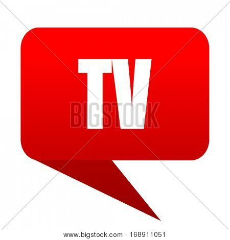 Tv bubble red icon