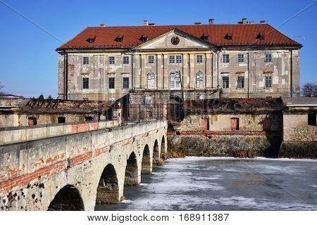 Monumental Baroque-Classicist manor house .Holíč manor house,Slovakia. Historical object