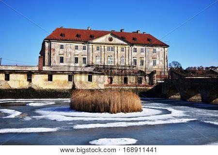 Monumental Baroque-Classicist manor house .Holíčsky manor house,Slovakia. Historical object